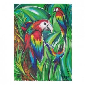 Malerei Papagei